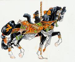 Halloween carousel horse