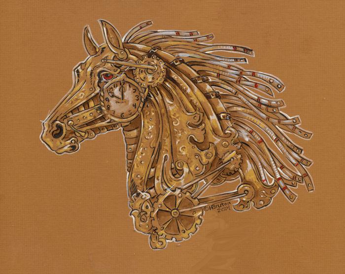 Steampunk Carousel Horse Head Study By Hbruton On DeviantArt