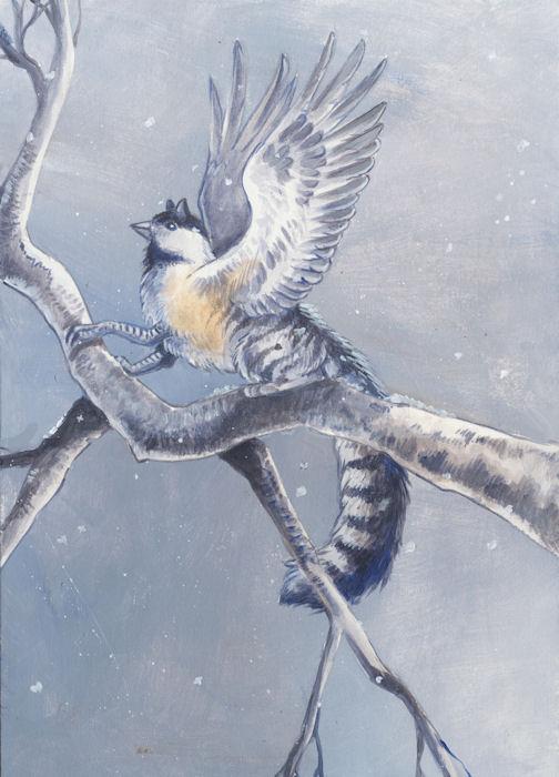 Backyard gryphons-Chickadee by Hbruton