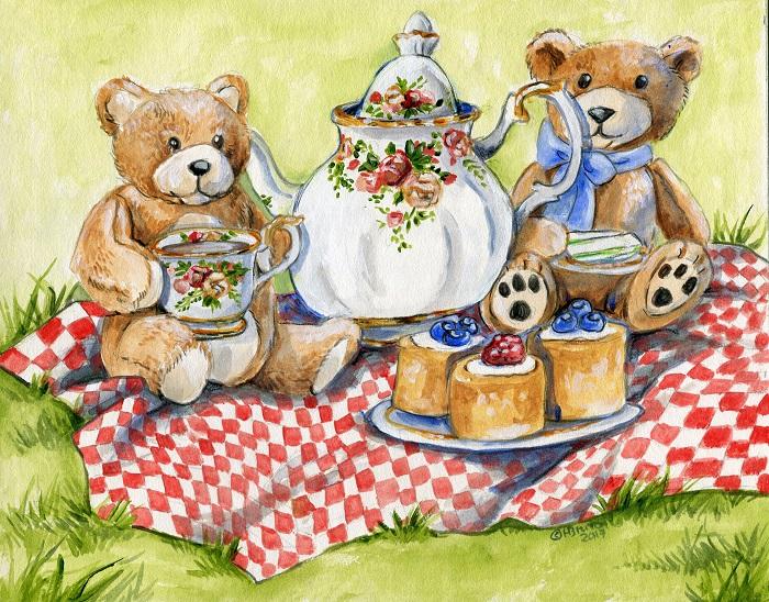 Teddybear Tea Party by Hbruton