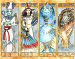 Gods Bookmarks Set 3
