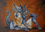 Untitled Anubis and Ammit painting