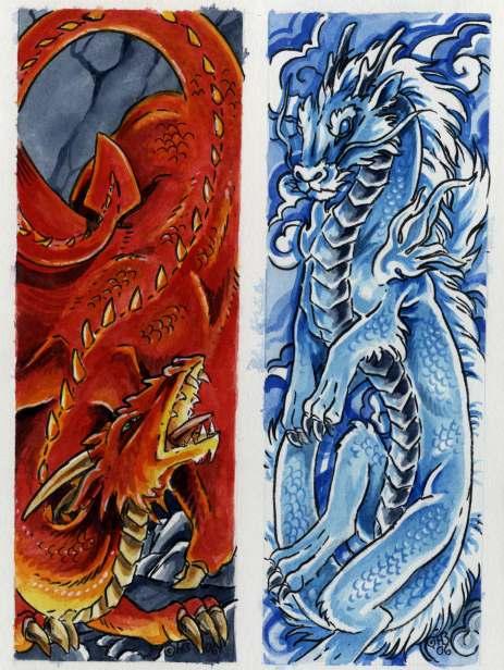 Dragon Bookmarks Set B By Hbruton On Deviantart
