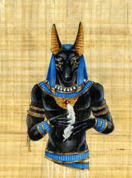 Papyrus Anubis by Hbruton