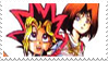 Yugi x Anzu stamp by ZorctheDemented