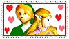 Link x Zelda stamp by ZorctheDemented