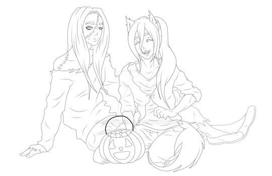 Ranseke Halloween Lineart