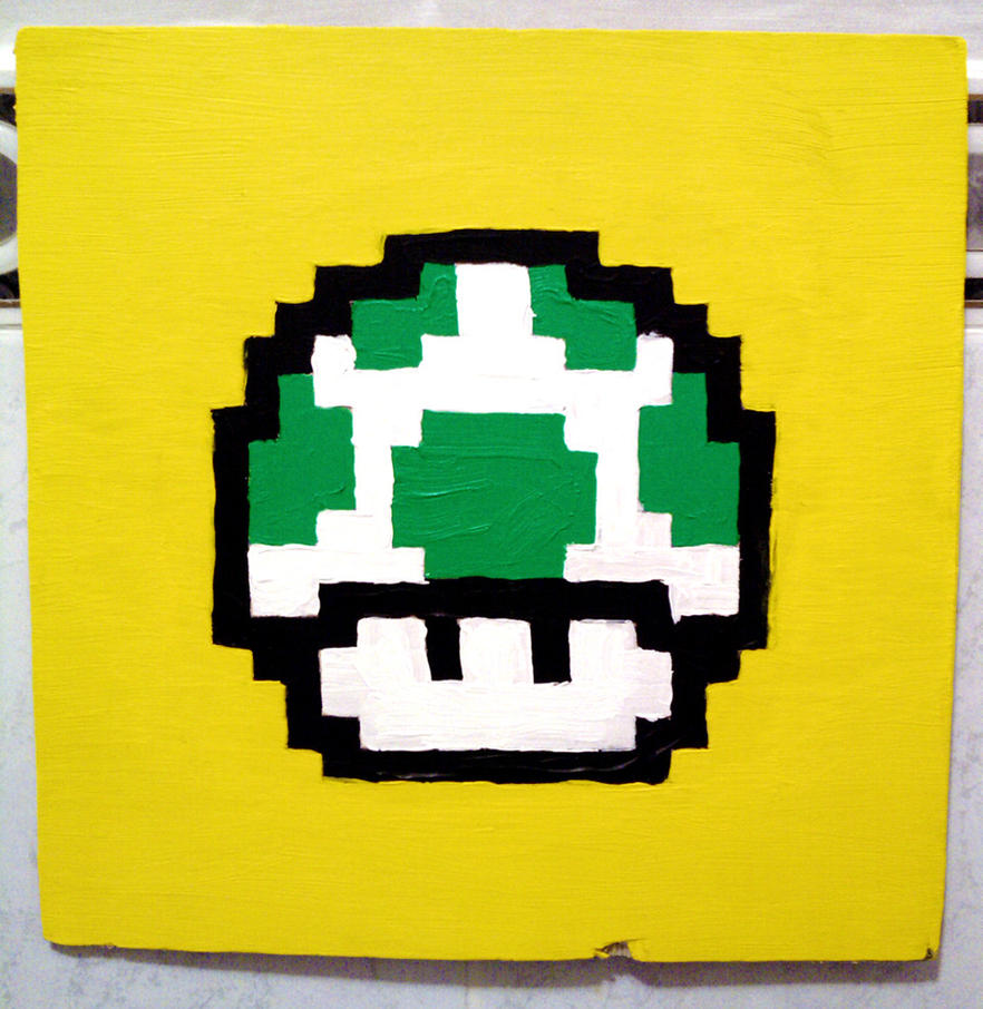 1Up on Yellow by HeroesforSale