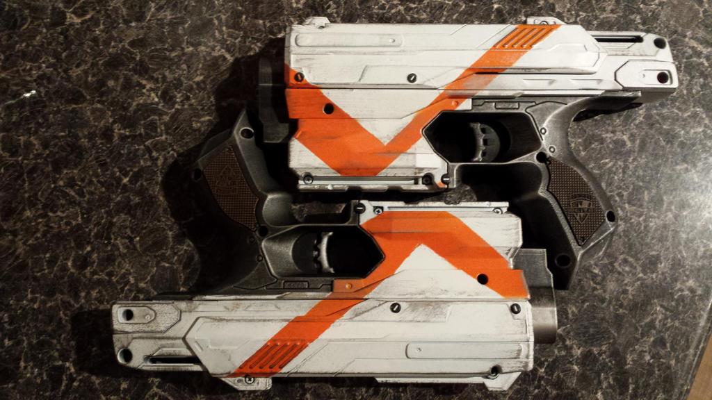 Destiny Nerf pistols by AreWeTheBaddies