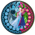 Kingdom Hearts: Elsa and Anna Stain Glass Window