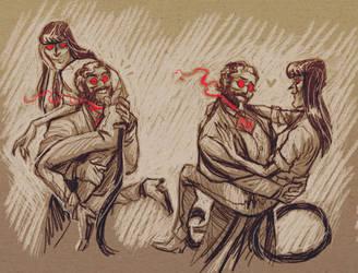 dog husbands by Coyoteprinceart