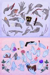 Monster Hands by Coyoteprinceart