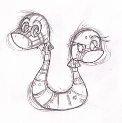 Tina and Teddington Sketch by kougrapaw