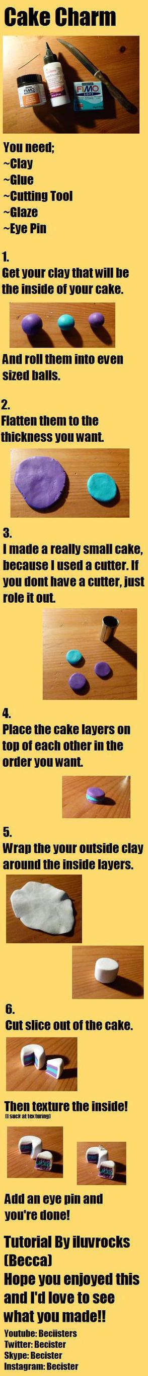 Cake Charm Tutorial by Iluvrocks