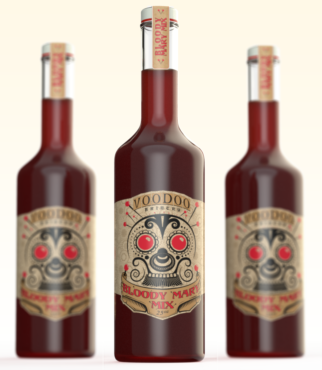 Bloody Mary Bottle Design by Dordea Paul by Mandeologul