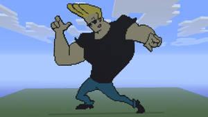 Johnny Bravo - Minecraft 360 Pixel Art