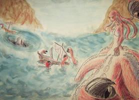 Scylla and Charybdis by Friggo-Glicker