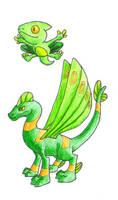 Flying Dragons by Friggo-Glicker