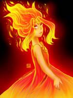 Flame Princess by Kawaii-SoupBowl