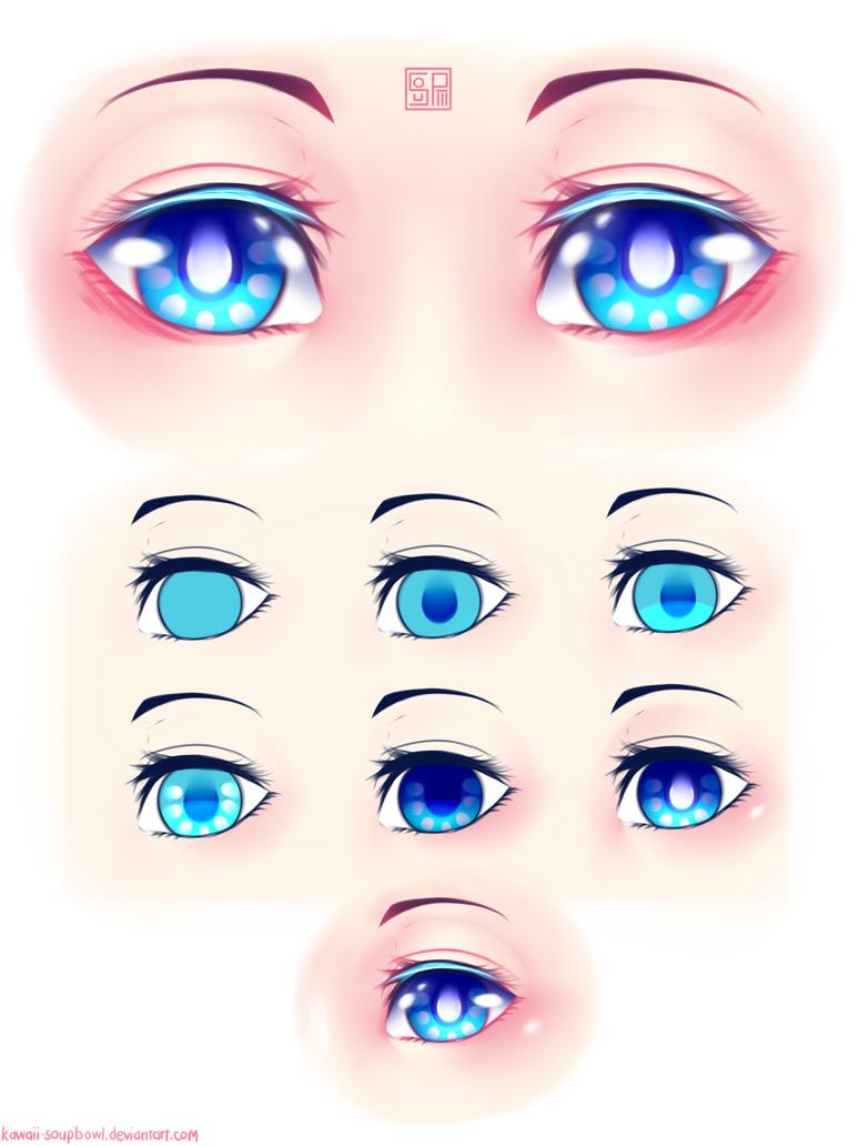 Eyes Coloring Tutorial By Kawaii SoupBowl