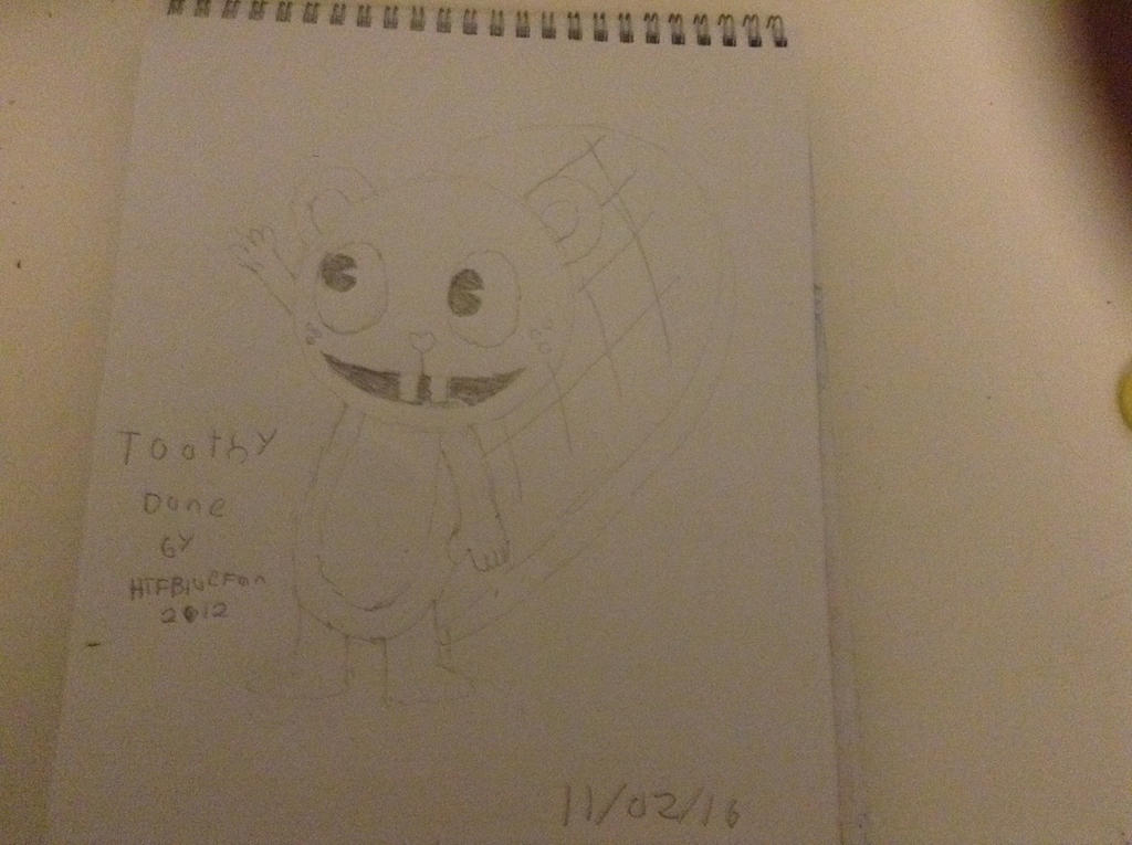 How to draw Toothy Attempt by HTFBlueFan2012