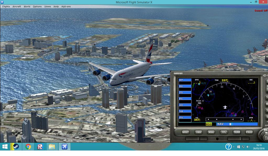 FSX Steam-BA A380 flying over Tokyo by HTFBlueFan2012 on DeviantArt