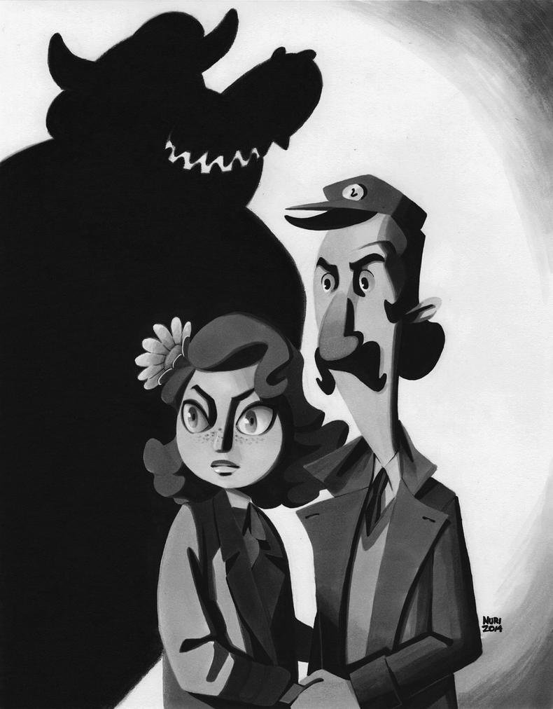 Daisy and Luigi by ActionHankBeard