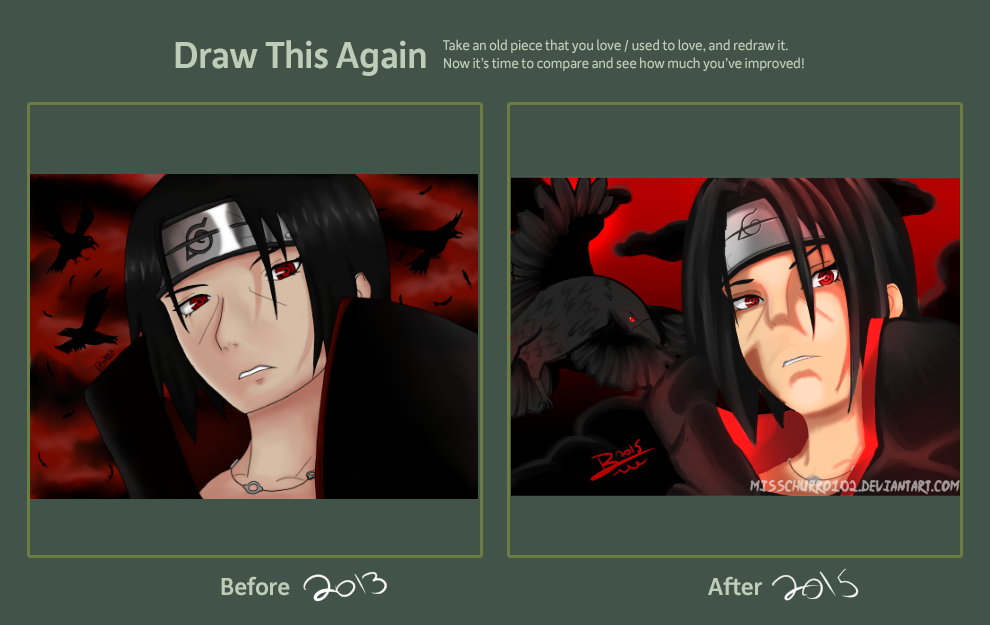 9543fe552dfe200a350ea2a6300784be d98rp8d itachi uchiha (draw this again meme) by misschurro102 on deviantart
