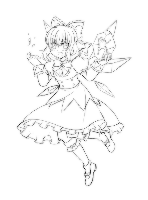 How To Draw Cirno From Touhou