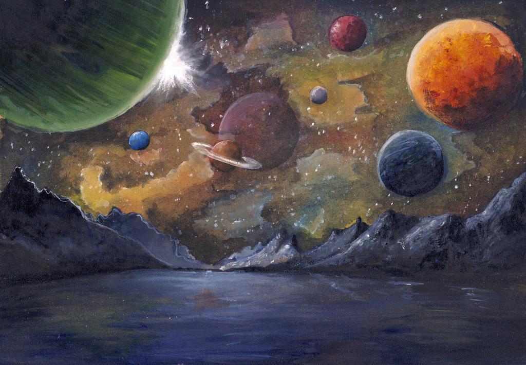 Space by hiddenwriterspirit