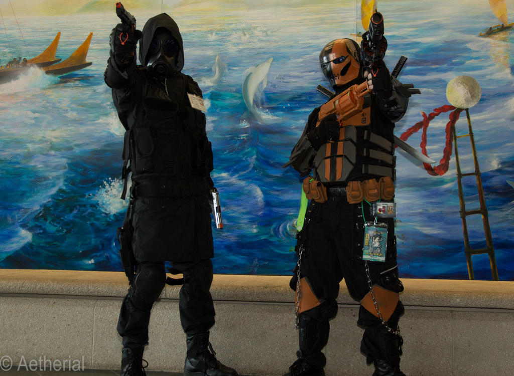 Hunk and Deathstroke by Aether-Shadow