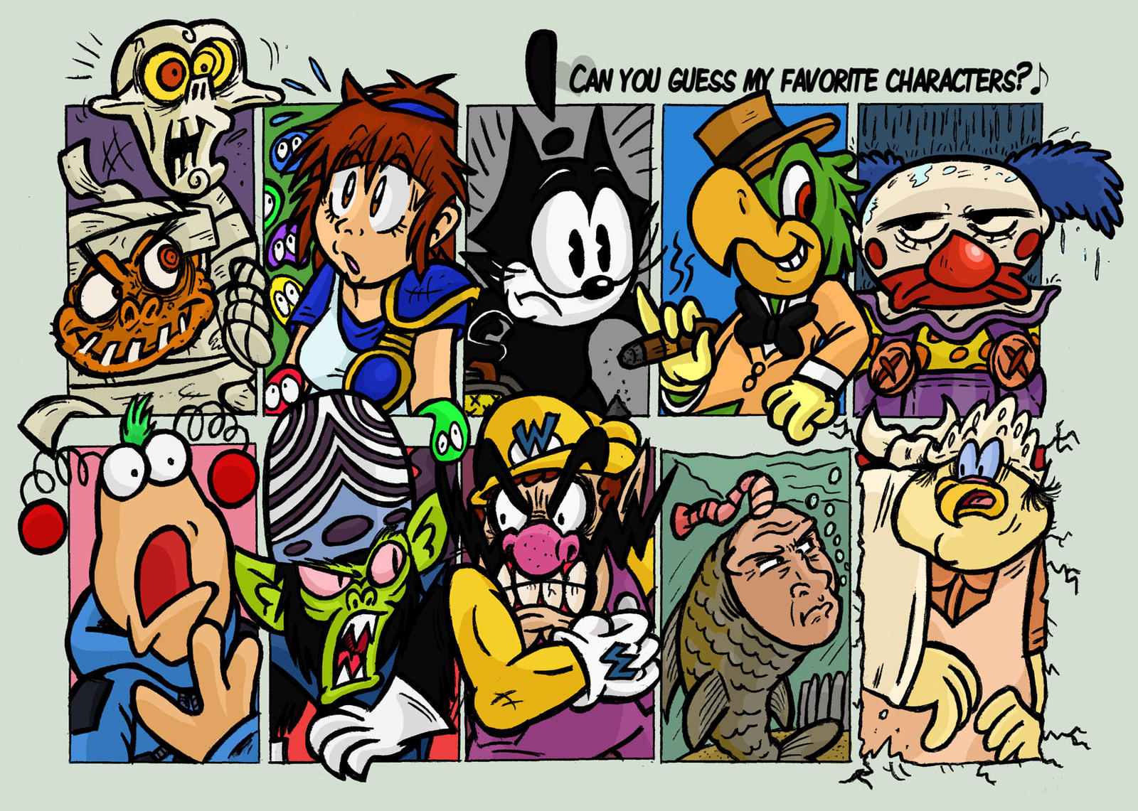 Favorite Characters Meme by GagaMan