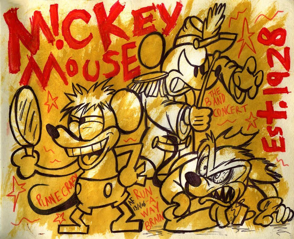 Mickey Mouse: Est. 1928 by GagaMan