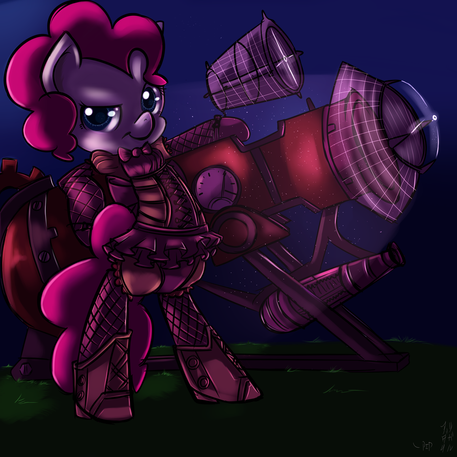 Pinkie's steampunk Cannon by imsokyo