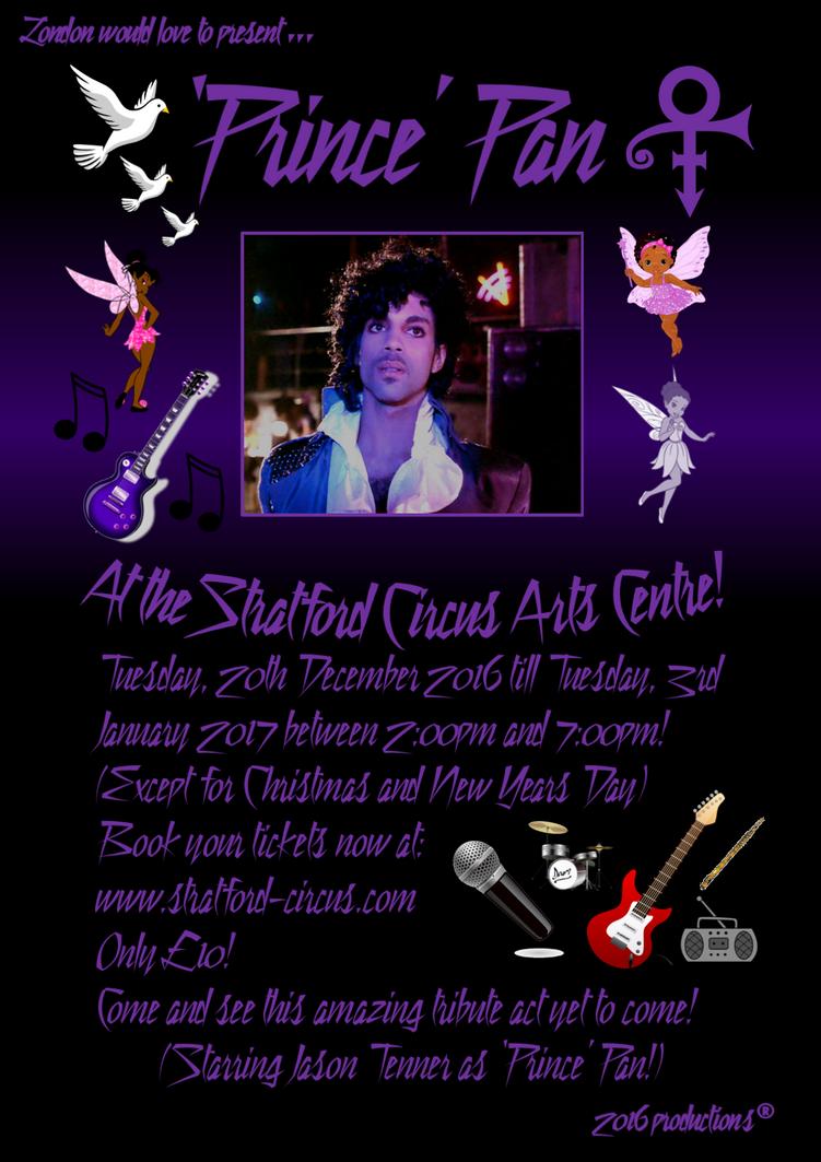 'Prince' Pan Pantomime Poster by Nickypink09
