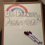 UKBP logo on a Whiteboard