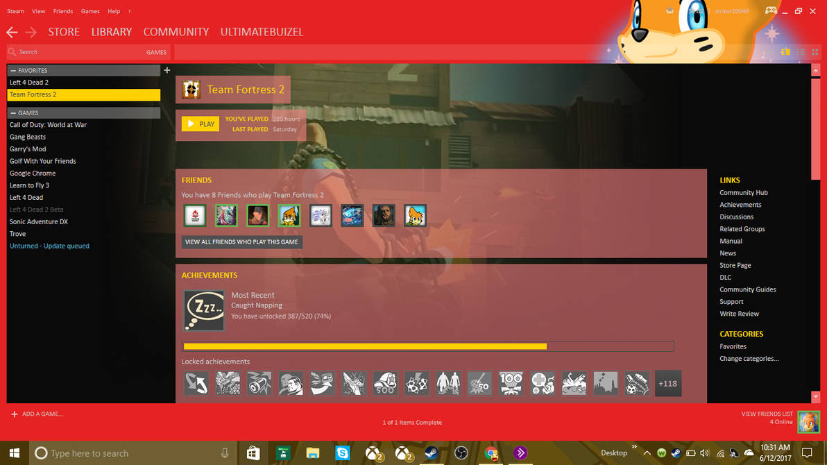 My custom steam HUD by UltimateStriker2004 on DeviantArt