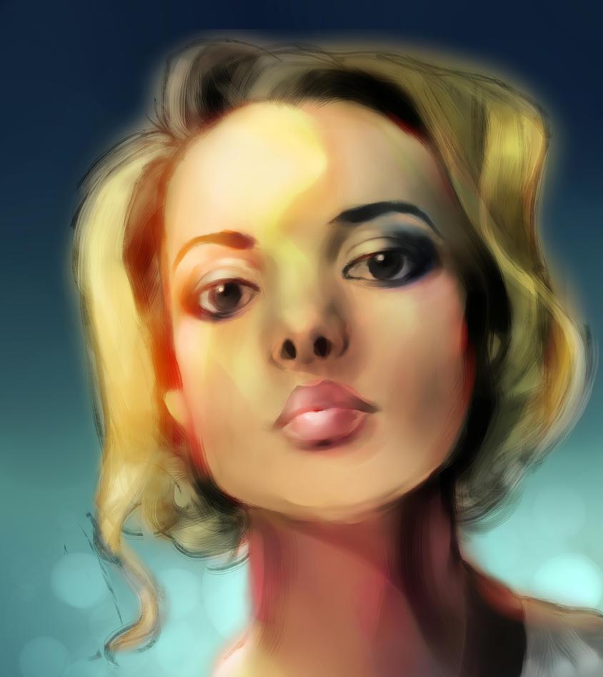 Portrait practice by Delkkat