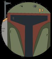 Star Wars Boba Fett Face by jordo21