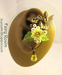 Lovely Fairy Sitting In The Yellow Garden Ear Cuff
