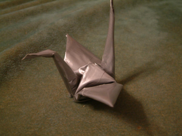 Duct Tape origami crane by