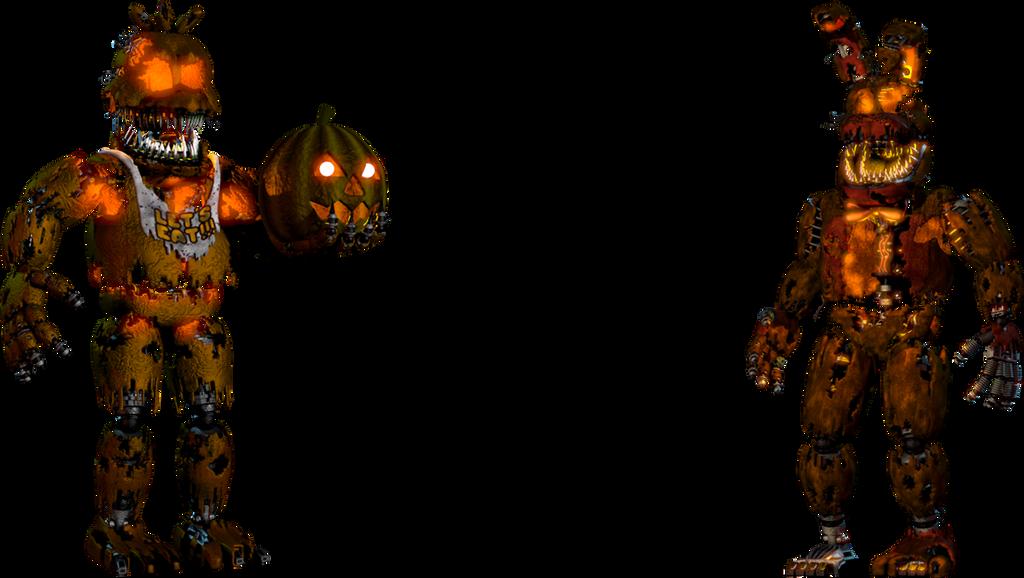 Jack-o-lanterns FNAF 4 halloween by TheGlitchyMaster on DeviantArt