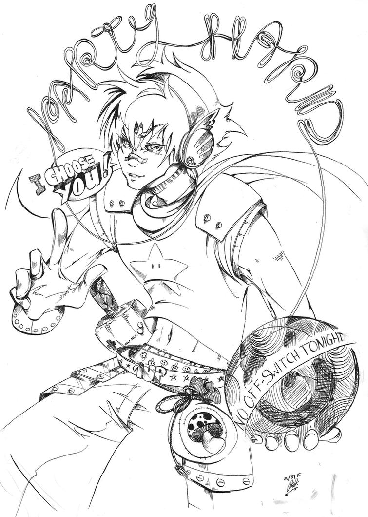 Geek Knight b/w by KimiyoTarameHollows