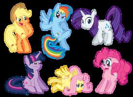 M0ar ponies by GlancoJusticar