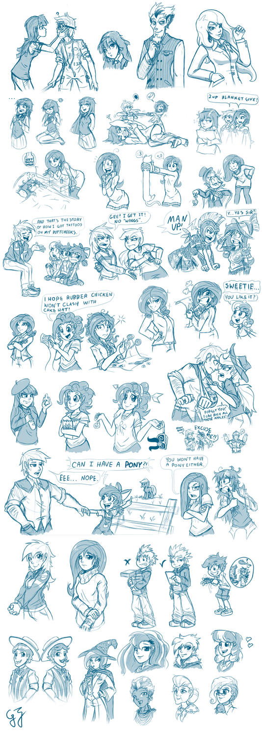 Humanized MLP Character Sheet by GlancoJusticar