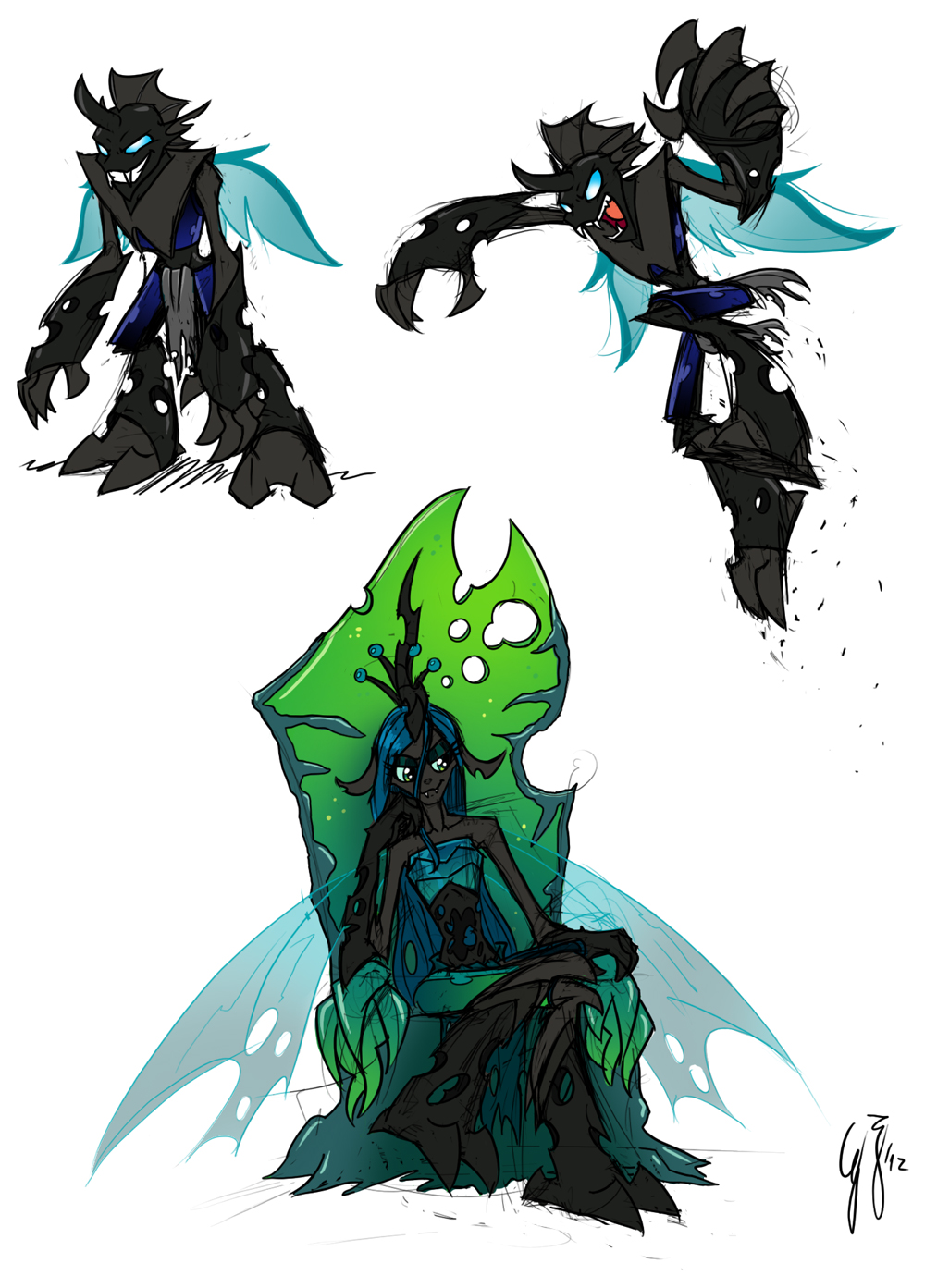 Changed Changelings by GlancoJusticar