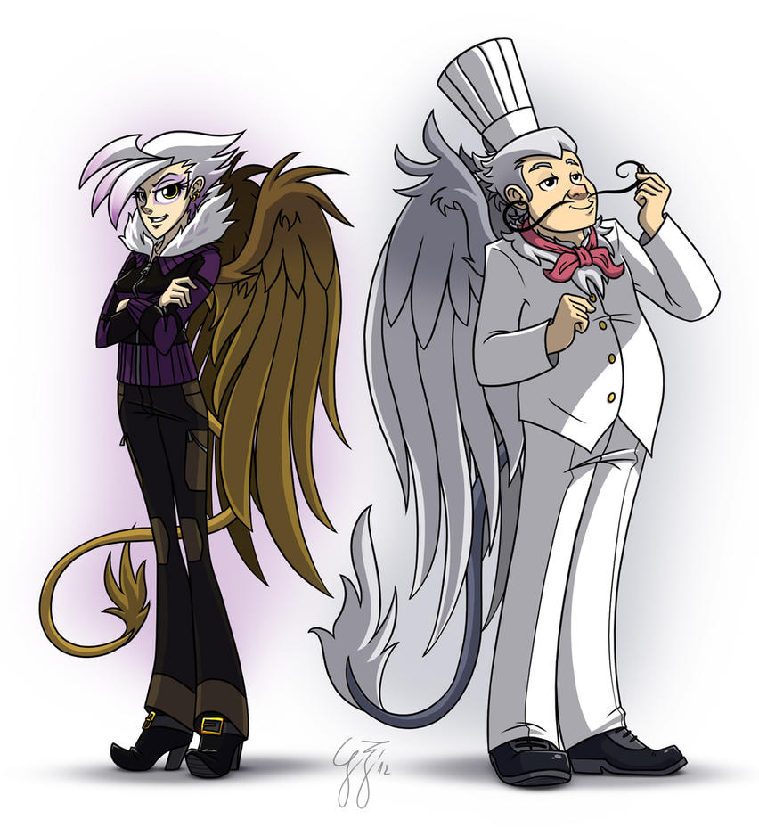 Gilda and the other guy that has no fanart by GlancoJusticar