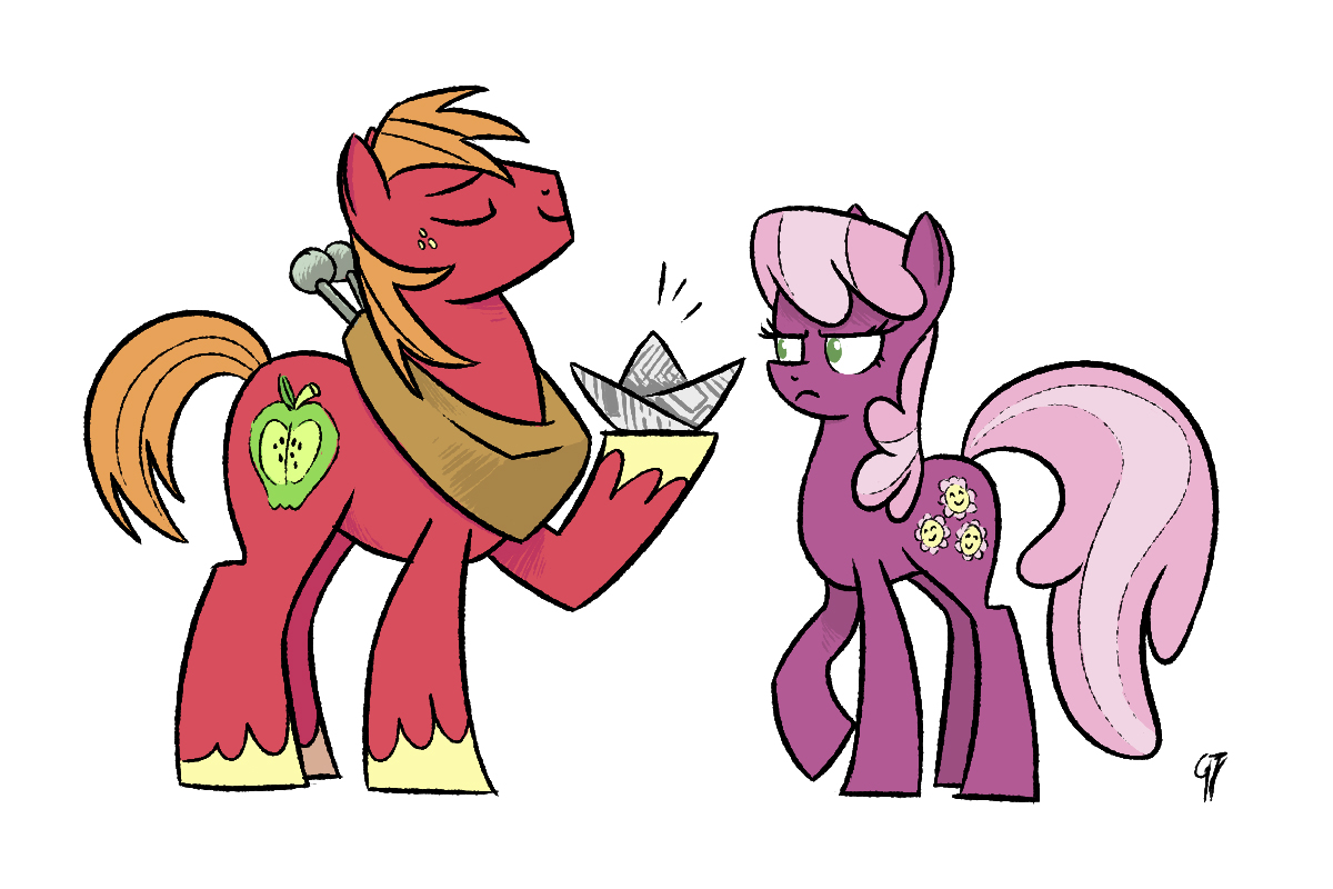 I, ship, Big Macintosh and Cheerilee by GlancoJusticar