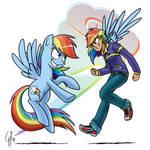 Human Ponidox Rainbow Dash