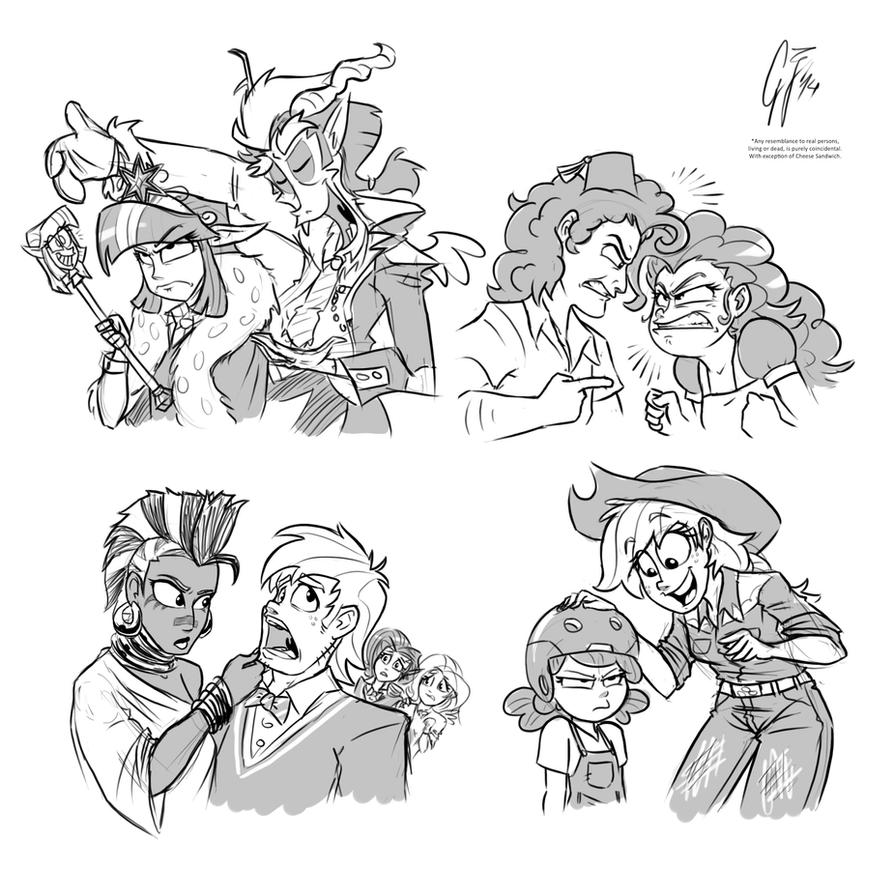 Sketches Humanized by GlancoJusticar
